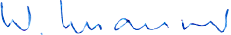 Signature of Walter Maurer, Managing Director of Waterjet AG, a specialist in the field of waterjet cutting